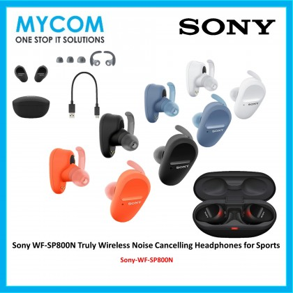 Sony WF-SP800N Truly Wireless Noise Cancelling Headphones for Sports
