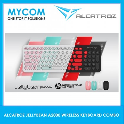 Alcatroz Jelly Bean A2000 2.4G Wireless Keyboard and Mouse