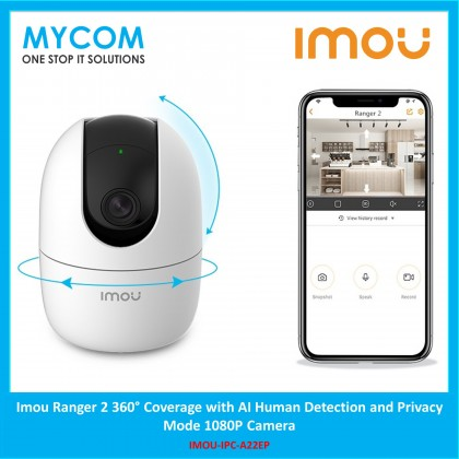 Imou Ranger 2 360° Coverage with AI Human Detection and Privacy Mode 1080P Camera