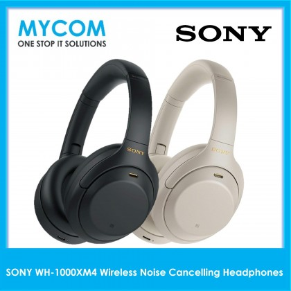 Sony WH-1000XM4 WH 1000XM4 XM4 Wireless Bluetooth Over the Ear Active Noise Cancelling Headphones with Mic